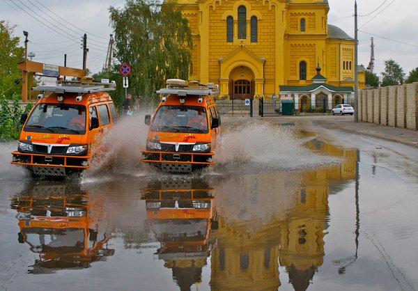 Due Porter in corsa, in Russia a Nižnij Novgorod